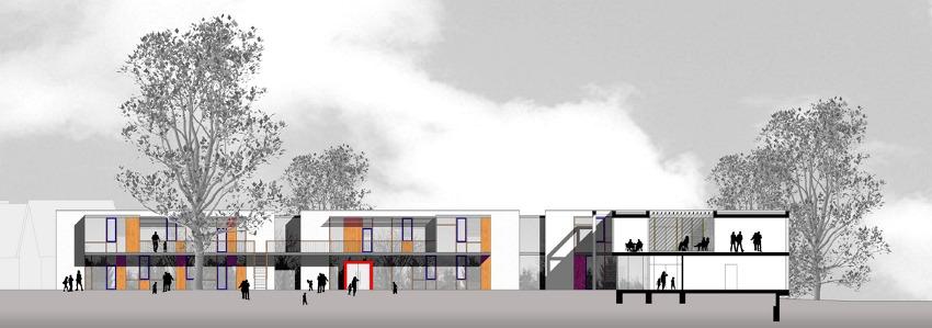Architektur Ansicht zill architekt bda wettbewerb kita lauenburg